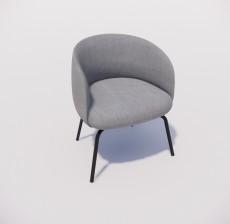 沙发椅_009_室内设计模型