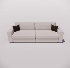 沙发_033_室内设计模型