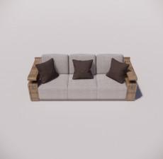 沙发_010_室内设计模型