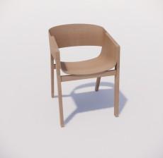 靠背椅_084_室内设计模型