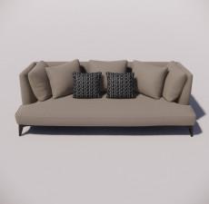 沙发_034_室内设计模型