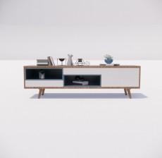 电视柜_005_室内设计模型
