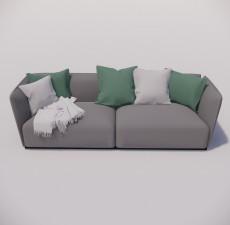 沙发_040_室内设计模型