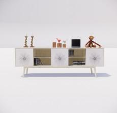 电视柜_013_室内设计模型