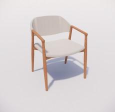 扶手椅_019_室内设计模型