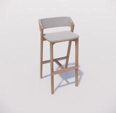 吧椅_003_室内设计模型