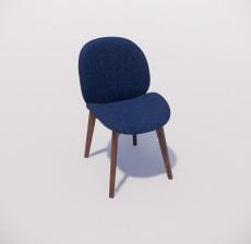 靠背椅_171_室内设计模型