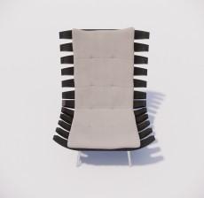 躺椅_008_室内设计模型