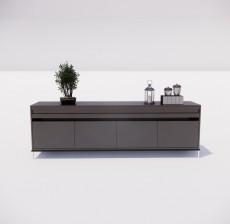 电视柜_016_室内设计模型