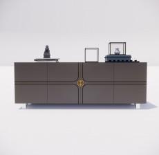 电视柜_017_室内设计模型