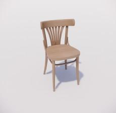 靠背椅_054_室内设计模型