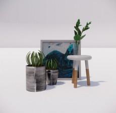 植物_004_室内设计模型