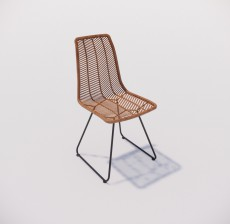 靠背椅_168_室内设计模型