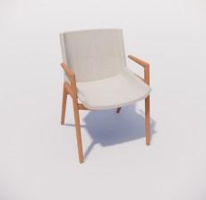 扶手椅_024_室内设计模型