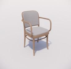 扶手椅_009_室内设计模型