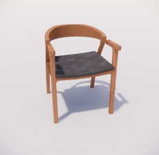 扶手椅_014_室内设计模型