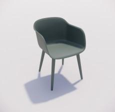 靠背椅_156_室内设计模型
