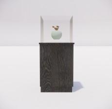 收纳展示柜_010_室内设计模型