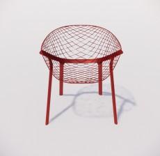 躺椅_002_室内设计模型