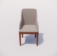 靠背椅_004_室内设计模型