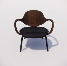 扶手椅_032_室内设计模型
