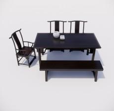 餐桌_002_室内设计模型