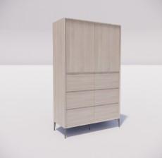 板式家具_023_室内设计模型
