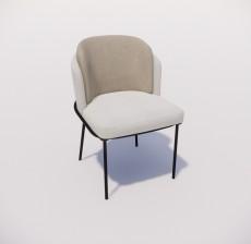 靠背椅_157_室内设计模型