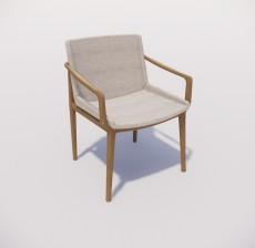 扶手椅_018_室内设计模型
