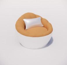 沙发椅_007_室内设计模型