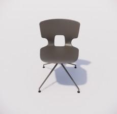 靠背椅_017_室内设计模型
