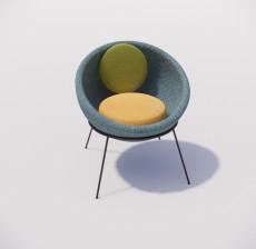 躺椅_006_室内设计模型