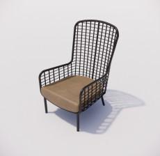 靠背椅_034_室内设计模型