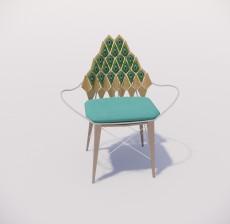 扶手椅_027_室内设计模型