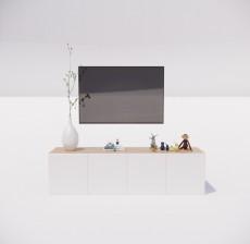 电视柜_011_室内设计模型