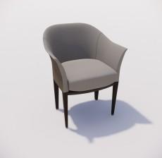 沙发椅_010_室内设计模型