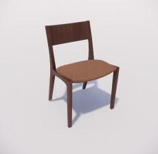 靠背椅_105_室内设计模型