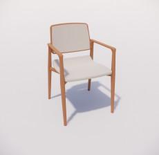 扶手椅_023_室内设计模型