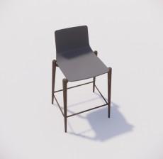 吧椅_012_室内设计模型