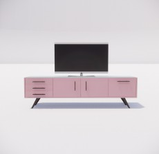 电视柜_018_室内设计模型