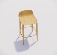吧椅_015_室内设计模型