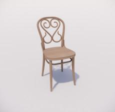 靠背椅_050_室内设计模型