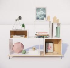收纳展示柜_004_室内设计模型