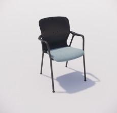 扶手椅_030_室内设计模型
