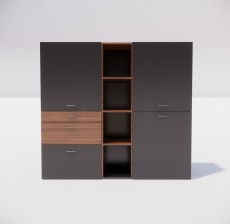 收纳展示柜_003_室内设计模型