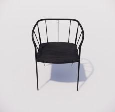 靠背椅_146_室内设计模型