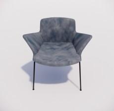 扶手椅_002_室内设计模型
