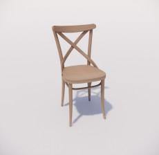 靠背椅_055_室内设计模型