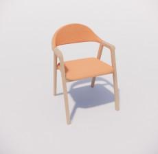 扶手椅_022_室内设计模型