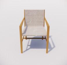 扶手椅_004_室内设计模型
